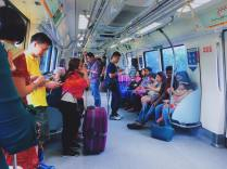 Inside the MRT.