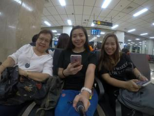 Traveling this time with my Lola and Auntie.